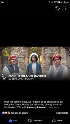 #Achint&the khanbrothers#