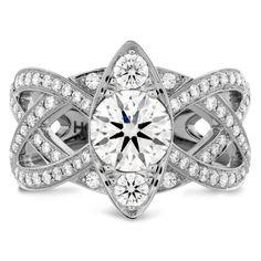 The Intertwining Regal Diamond Engagement Ring #HOF #Diamonds