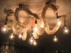 "Papier mâché ""Octopus Chandelier"" by Meg Lemieur Octopus Decor, Octopus Art, Octopus Design, Kraken, Tentacle, My Dream Home, Cool Furniture, Interior And Exterior, House Design"