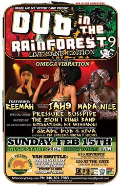 Dub in the Rain Forest 9 - Omega Vibration Edition... St. Croix, USVI w/ Jah9, Reema, Mada Nile and much more...