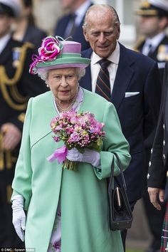 Queen Elizabeth II attends the Ceremony of the Keys at Holyrood Palace in Edinburgh with Prince Phillip, June 30, 2015