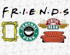 Friends tv show svg Serie Friends, Friends Tv Show, Vinyl Crafts, Vinyl Projects, Friends Font, Friends Cake, Cricut Tutorials, Silhouette Cameo Projects, Cricut Creations