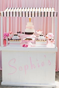 Ice Cream Social Birthday Party: Nothing compares to the sweetness of a little baby girl — but an ice cream social first birthday party comes pretty close! Set the stage with an ice cream and cake bar for your lil guests. Source: Trista Lerit for Grand Soirees