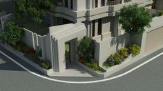 [起點] 香賀建設 台中北屯 住宅設計 轉角戶 大門造景設計