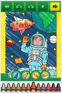 Awesome coloring app -- starring your own kids!