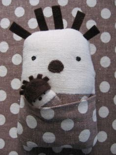 Hedgehog softie.  Cutest thing ever.  You could change it up a bit to make a baby doll as well.