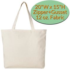 Wholesale Large Canvas Tote Bags with Zipper Closure Canvas Tote Bags Wholesale, Large Canvas Tote Bags, Wholesale Bags, Custom Screen Printing, Custom Canvas, Printed Tote Bags, Reusable Bags, Gift Bags, Canvas Fabric