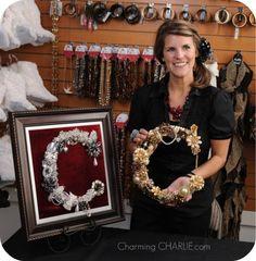 diy craft broken jewelry letter