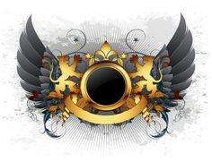 Angel Wings Drawing, Dog Logo Design, Dance Logo, Retro, Beautiful Dark Art, Stock Foto, Photo Logo, Logo Maker, Vector Art