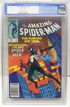 Graded CGC VF+ 8.5 Amazing Spider-Man #252 - 1st Black Suit Spider-Man NICE
