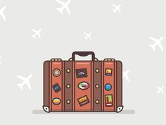 Travel bag artwork old outline flat stickers plane travel bag fireart studi Travel Icon, Travel Maps, Travel Posters, Travel Quotes, Travel Usa, Travel Luggage, Beach Vacation Packing List, Drawing Bag, Pin On
