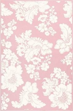 Pink & White Area Rug