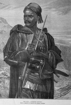 Ottoman / Turkish bashi bazouk (irregular soldier), November      17, 1877, Illustrated London News.