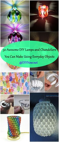 30 Awesome DIY Lamps and Chandeliers You Can Make Using Everyday Objects