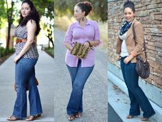 Plus Size Inspiration with flare jeans