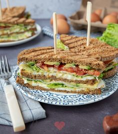 Healthy Sandwiches, Sandwiches For Lunch, Delicious Sandwiches, Delicious Dinner Recipes, Healty Lunches, Lunch Catering, Confort Food, Food Concept, Brunch