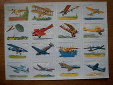ANCIENNE PLANCHE SCOLAIRE ECOLE IMAGES VOLUMETRIX AVIONS AVIATION N° 18
