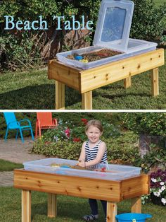 Bring the beach to your home with this great #DIY project! Your kids will love playing in the sand all summer long!