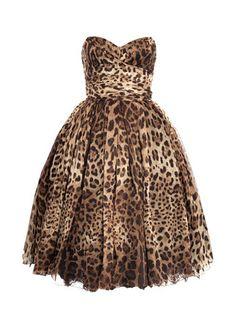 Dolce & Gabbana Strapless Leopard-print Dress - LoLoBu