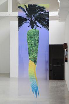 "redruzdigitalsoup:  Alan Fertil & Damien Teixidor""Arcane Vanilla"" installation views at 40m cube, Rennes, 2014"