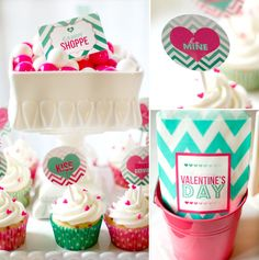 chevron + ombre valentine party