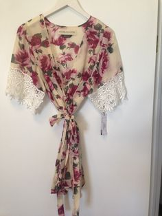Stone cold fox rose and lace silk robe Silk Kimono Robe, Stone Cold Fox, Lace Silk, Silk Shorts, Silk Ties, Lace Detail, Style Me, Lingerie, Hippie Style