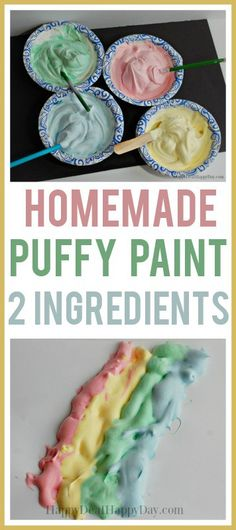 Kids Crafts: Homemade Puffy Paint with Shaving Cream shavingcream puffypaint kidscraft kids kidsactivities 507006870548872027 Easy Crafts For Kids, Projects For Kids, Diy For Kids, Toddler Summer Crafts, Summer Crafts For Preschoolers, Crafts For Babies, Baby Art Crafts, Crafts Toddlers, Toddler Art Projects