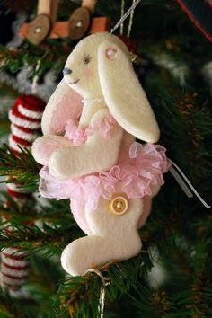another cute button jointed bunny ornament