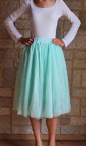 Spódnica tiulowa MIĘTA miętowa MIDI z koła spódniczka baletnicy baleriny baletowa spódnica tiulowa na weselę, tulle skirt ballerine skirt, tulle skirt buy online wedding, outfit pinterest asos  mint