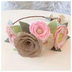 BLUSH AND BURLAP // Felt Flower Crown // Woodland by HoneyCrown