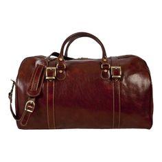 0c8671c054 Alberto Bellucci Torino Italian Leather Duffel Bag - Black Duffel Bags