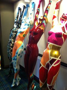 Painted Mannequins for ACME Hotel Installation