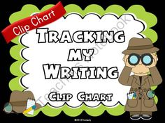 """Tracking My Writing"" Clip Chart (Detective Theme Writing Process Resource Posters) from By Kimberly on TeachersNotebook.com (12 pages)  - ""Tracking My Writing"" Clip Chart (Detective Theme Writing Process Posters)  Students and teachers will use this cute detective theme tracking chart to keep track of where everyone is in the writing process. Each resource poster has a brief description of"