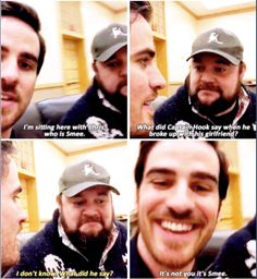 Colin O'Donoghue and Chris Gauthier - OUAT - Captain Killian Hook and Smee - funny