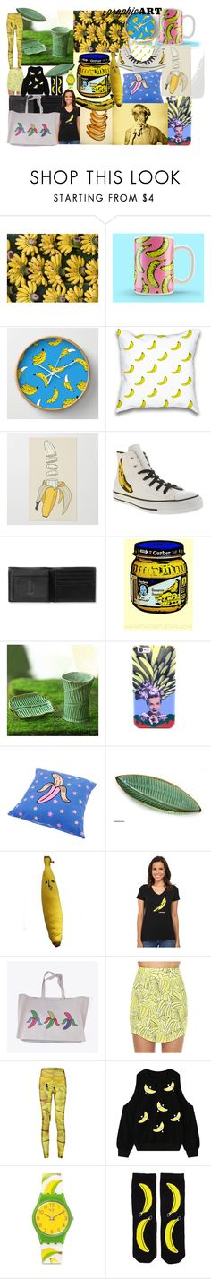"""""""Warhol ware"""" by lerp ❤ liked on Polyvore featuring interior, interiors, interior design, home, home decor, interior decorating, Converse, Banana Republic, Gerber and NOVICA"""