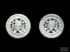 Silver Ear Ornaments, Chimú (1300-1532 CE). Larco Museum, Lima