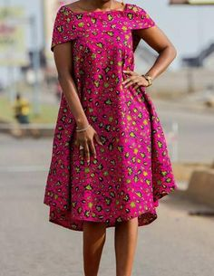 """"""" Tailor-made to order African Ankara Short Dress with Cape. This dress is very free and comfortable which makes it perfect for maternity, post partum or any casual outing. Makes you look elegant yet… Photos Comments """" African Fashion Ankara, Latest African Fashion Dresses, African Print Fashion, African Ankara Styles, African Style, Ethnic Fashion, Short African Dresses, African Print Dresses, Indian Dresses"""
