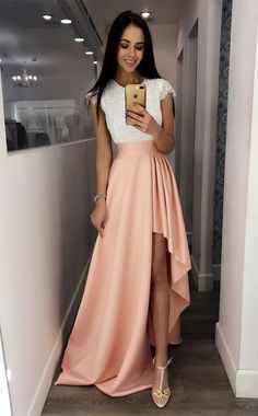 detachable pearl pink prom dresses,simple lace long prom gowns,formal evening dress for women,