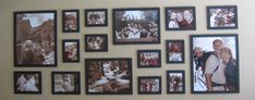 """My next project: Canvas Wall. I will use a similar plan as this with 4 x 18""""x12"""", 4 x 6""""x6"""" and 2 x 16""""x12"""" canvas prints. I already have 2 wedding and 1 holiday canvas, just need to work out what other photos I want to use!"""