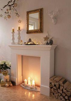 Kamin Mit Kerzen   Eine Hausbar?