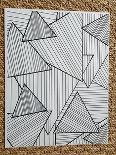 Adult Coloring Page - Abstract Striped Triangles - Art Drawings Coloring Pages To Print, Coloring Book Pages, Coloring Sheets, Op Art, May Designs, Patterned Vinyl, Triangles, Glitter Vinyl, Grafik Design