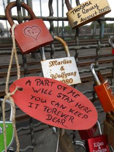 Padlock bridge in Koln, Germany