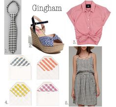 gingham--love it in all colors! Have these shoes in red and blue.