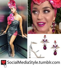 a0032a781765 Buy Katy Perry's Crystal Earrings and Silver Sandals from American Idol  here! Silver Sandals,