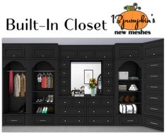 Sims 4 This was a request by the lovely carlinvauses Hope you enjoy! Built-In Closet set includes: ♦ 6 new meshes made by me ♦ Unit 1 - 536 polys ♦ Unit 2 - 548 polys ♦ Unit 3 - 546 polys ♦