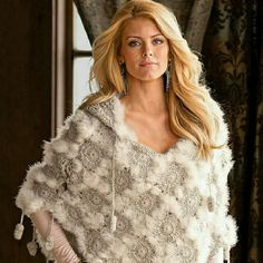 Boston Proper Crochet Poncho with Hood & Feathers So cool & unique, this stand out crochet poncho is perfect for spring time; it features a crochet diamond motif, Marabou feathers & little crochet pompoms;  off white/light cream color; never wore,  NWOT. Boston Proper Jackets & Coats Capes