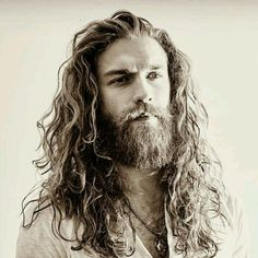 """ "" *** Wonderful selection … love the long wavy hair and beard especially ……………… total wooftastic………… Long Hair Beard, Curly Hair Men, Long Hair Cuts, Beard Styles For Men, Hair And Beard Styles, Curly Hair Styles, Long Beards, Beard Lover, Moustaches"