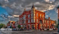 The Holmes Hotel building, southwest corner of State and Main, Westerville, OH.  For a couple years in my childhood, I lived less than 200 yards from this place.
