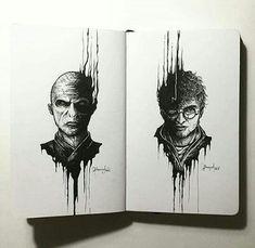 Harry potter voldemort art