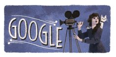 Google doodle for Mary Pickford's 125th birthday (April 8, 2017)